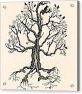 Raven's Magic Oak Acrylic Print