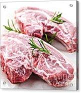 Raw Lamb Chops Acrylic Print