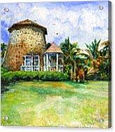 Rawlin's Plantation Inn St. Kitts Acrylic Print