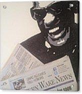 Ray Charles Reading Acrylic Print