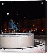 Ray Charles Statue In A Odd Weather Event Acrylic Print