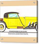 1922 Mercedes Benz By Raymond Dietrich Z Acrylic Print