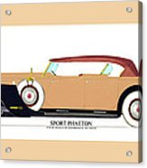 Raymond H Dietrich Packard Sport Phaeton Concept Acrylic Print