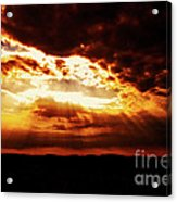 God's Hope In Skyscape Acrylic Print