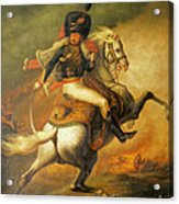 Re Classic Oil Painting General On Canvas#16-2-5-08 Acrylic Print