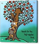 Reach For The High Apples Acrylic Print