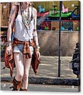 Redhead Crossing Main Street Acrylic Print