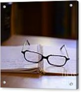 Reading Glasses Acrylic Print by Bobby Mandal