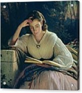 Reading Acrylic Print by Ivan Nikolaevich Kramskoy