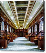 Reading Room In The Library Of Congress Acrylic Print