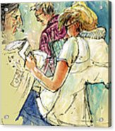 Reading The News 06 Acrylic Print