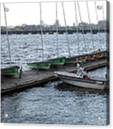Ready And Waiting On The Charles Acrylic Print