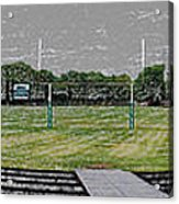 Ready For The Football Season Panorama Digital Art Acrylic Print