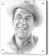 Reagan Drawing Mike Theuer Acrylic Print