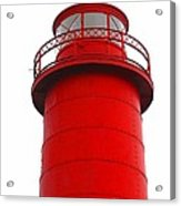 Really Red Lighthouse Acrylic Print