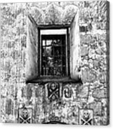 Rear Window Bw Santa Barbara Acrylic Print