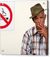 Rebel Smoker Acrylic Print