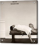 Recent Acquisitions Vintage Documentary Type Photo Woman In Repose Acrylic Print
