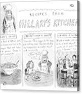 'recipes From Hillary's Kitchen' Acrylic Print