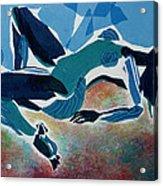 Recline Acrylic Print by Diane Fine