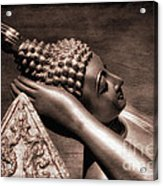 Reclining Buddha Acrylic Print by Adrian Evans