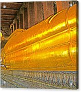 Reclining Buddha In Wat Po In Bangkok-thailand Acrylic Print