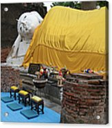 Reclining Buddha Monument Acrylic Print