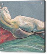 Reclining Nude Back Acrylic Print by Asha Carolyn Young
