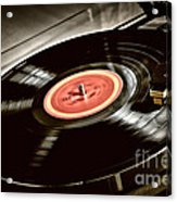 Record On Turntable Acrylic Print
