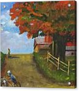 Recreation On A Fall Day Acrylic Print