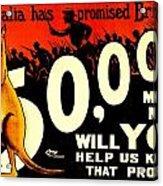 Recruiting Poster - Ww1 - Australian Promise Acrylic Print