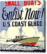 Recruiting Poster - Ww2 - Coast Guard Acrylic Print