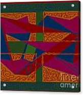 Rectangles Triangles Acrylic Print by Meenal C