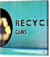 Recycle Cans Acrylic Print