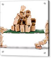 Recycling Boxes By Box Characters And Stretcher Acrylic Print