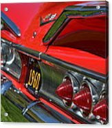 Red 1960 Chevy Acrylic Print