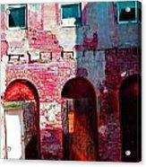 Red Abandonment Acrylic Print