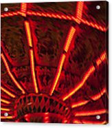 Red Abstract Carnival Lights Acrylic Print