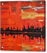 Red Amazon Sunset Acrylic Print