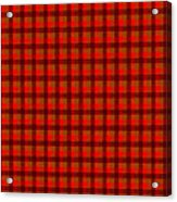 Red And Black Checkered Tablecloth Cloth Background Acrylic Print