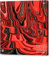 Red And Black Flowing Abstract Acrylic Print