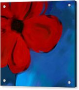 Red And Blue -flower -art Acrylic Print