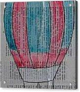 Red And Blue Hot Air Balloon In Paris Fashion Acrylic Print
