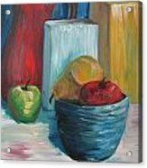 Red And Blue Still Life 2013 Acrylic Print