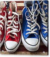 Red And Blue Tennis Shoes Acrylic Print