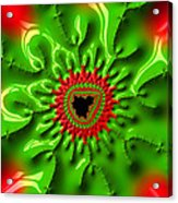 Red And Green Abstract Fractal Art Acrylic Print