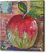 Red and Green Apple - GIFTED Acrylic Print