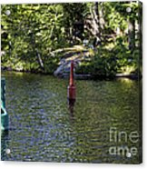 Red And Green Buoys Acrylic Print