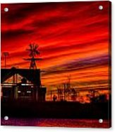 Red And Orange Sky Acrylic Print