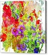 Red And Purple Calibrachoa - Digital Paint II Acrylic Print